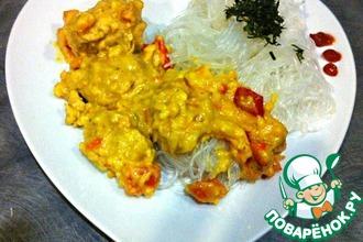 Рецепт: Курица Сент-Жак по индийски