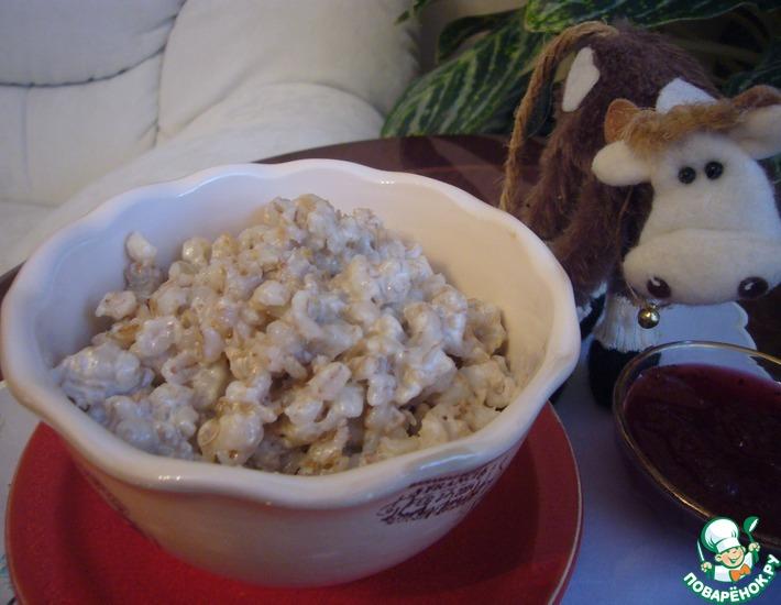 Рецепт: Перловая каша на завтрак