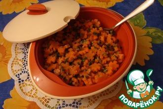 Рецепт: Морковь тушеная с зеленым луком