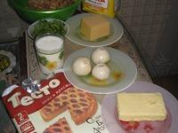 Грибной тортик с зеленью и сыром ингредиенты
