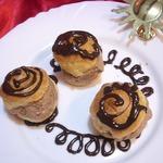Профитроли, начиненные домашним шоколадным мороженым