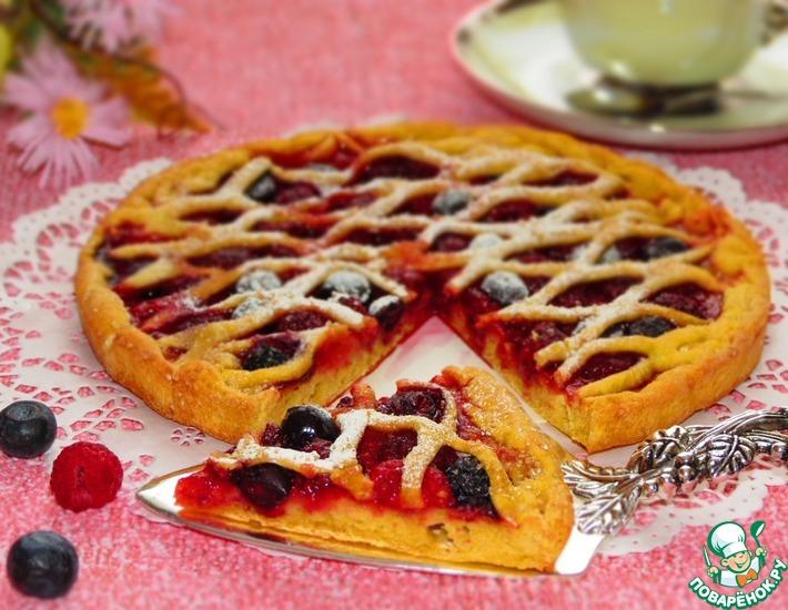 Рецепт: Ягодный пирог на тыквенном тесте