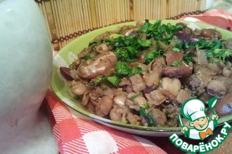 Рецепт: Пестрое лобио с грецкими орехами