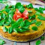 Мясной пирог с щавелем