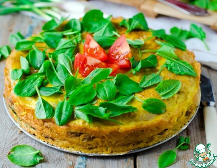 Рецепт: Мясной пирог с щавелем