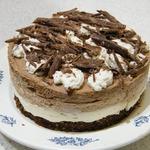 Трехслойный творожный торт