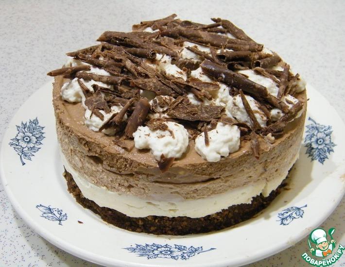 Рецепт: Трехслойный творожный торт