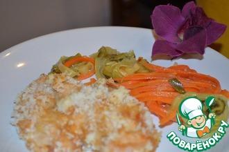 Рецепт: Куриные грудки с овощными фетучини