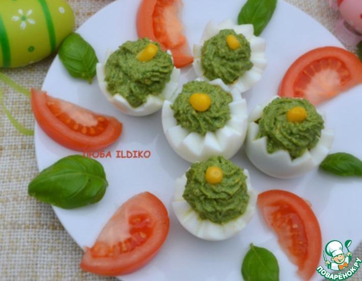 Рецепт: Шпинатно-яичная закуска