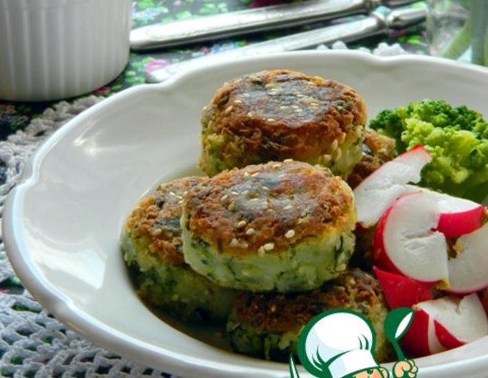 Рецепт: Постные шарики из брокколи и картофеля