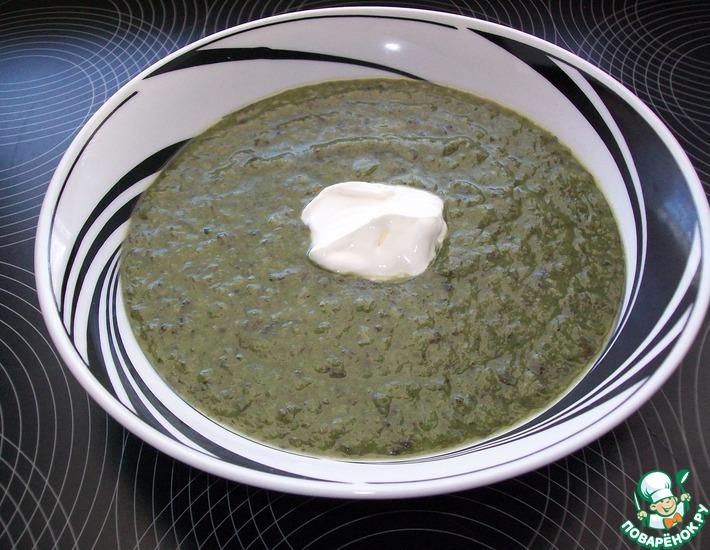 Рецепт: Грибной суп со шпинатом