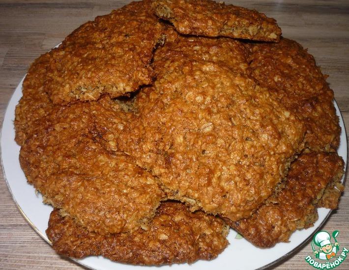 Рецепт: Овсяное печенье постное