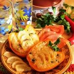 Запеченный перец с кус-кусом, чечевицей и лимоном