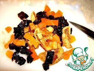 Пряный итальянский пирог с орехами и сухофруктами