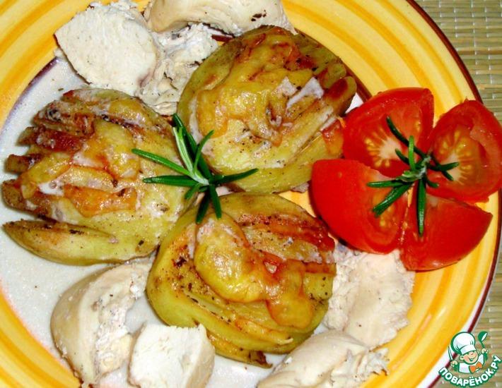 Рецепт: Картофель-веер