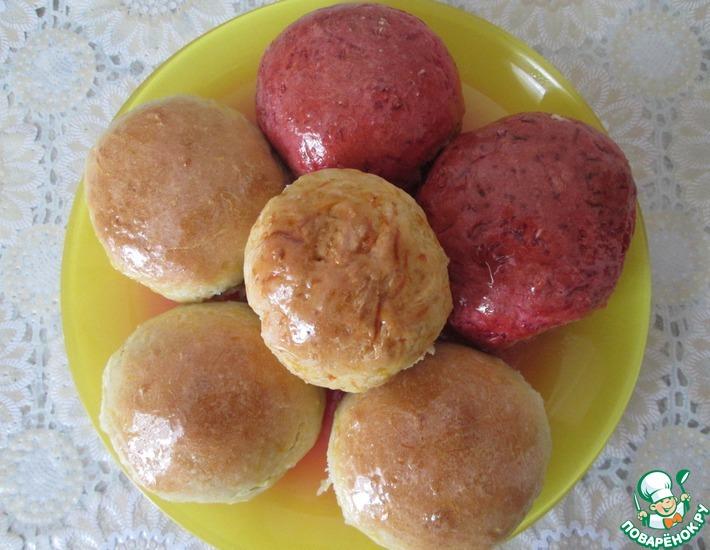 Рецепт: Постные булочки Овощные