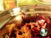 Тёплый салат из свеклы с имбирём ингредиенты