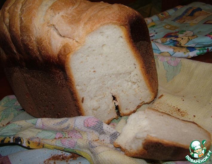 Рецепт: Простейший белый хлеб на закваске