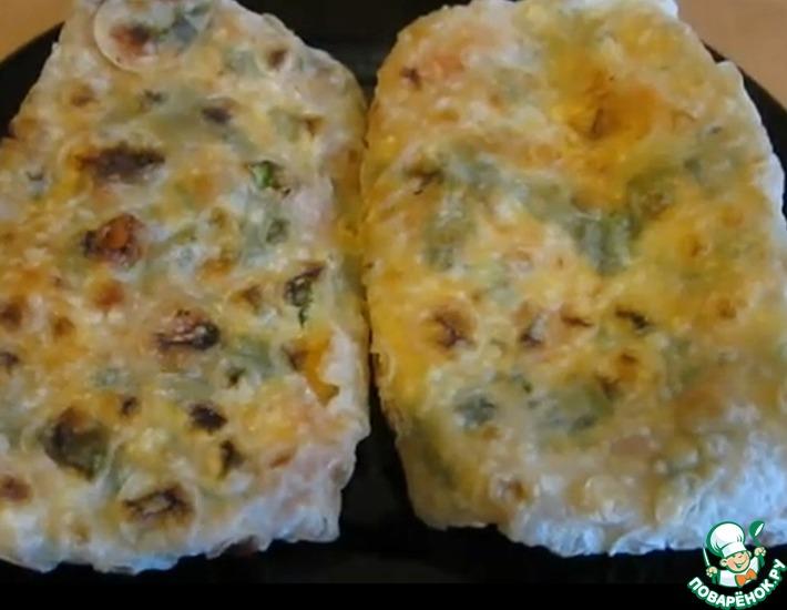 Рецепт: Конвертики из армянского лаваша