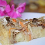 Картофельный пирог с квашеной капустой