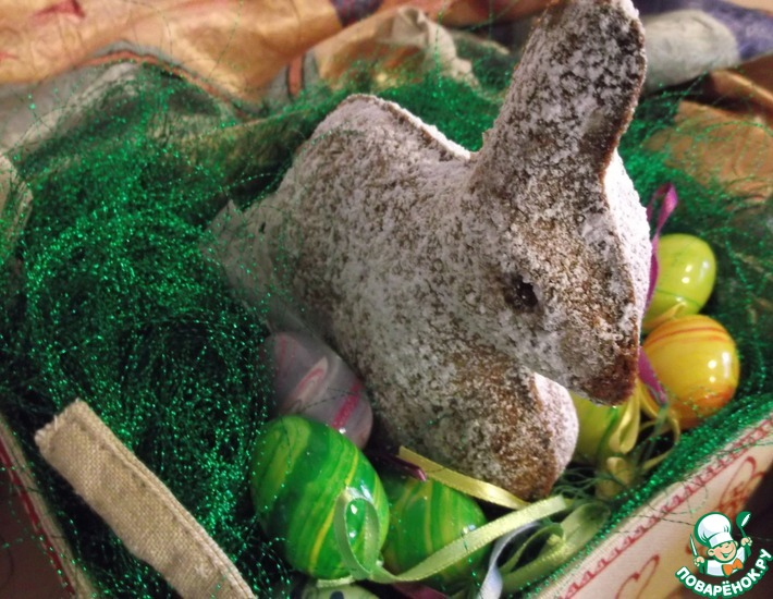 Рецепт: Марципановый пасхальный заяц