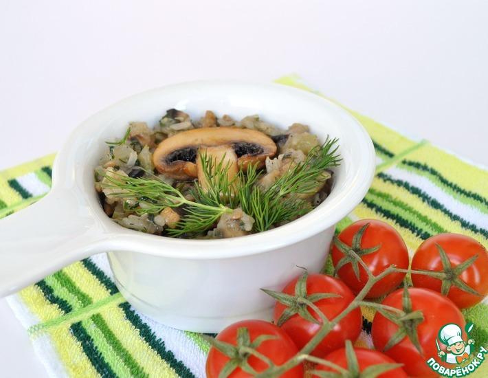 Рецепт: Постная запеканка из грибов и риса от послушницы Ачаирского монастыря