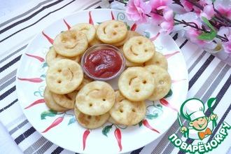 Рецепт: Картофельные смайлики