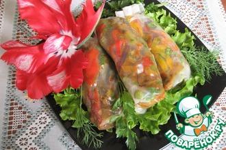Рецепт: Спринг роллы с овощами карри