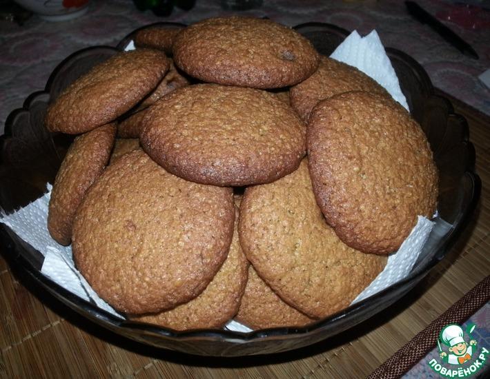 Рецепт: Простое мягкое овсяное печенье
