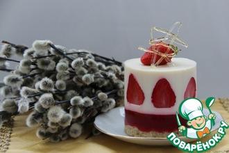 Рецепт: Клубнично-кокосовый десерт с карамелью
