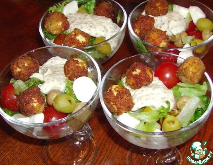 Рецепт: Салат-коктейль Пинг-Понг