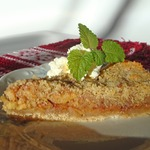 Сконский яблочный пирог на сухарях