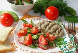 Подавать можно как гарнир. Со свежими или маринованными овощами, различными салатами и зеленью.
