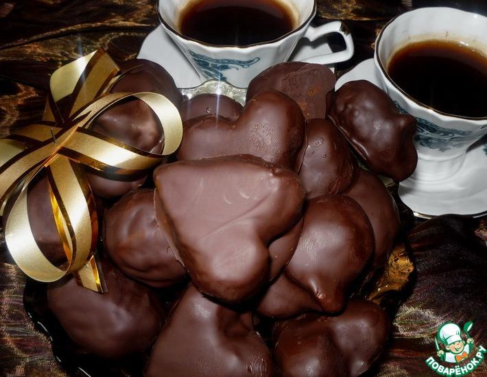 Марципановые конфеты в шоколаде