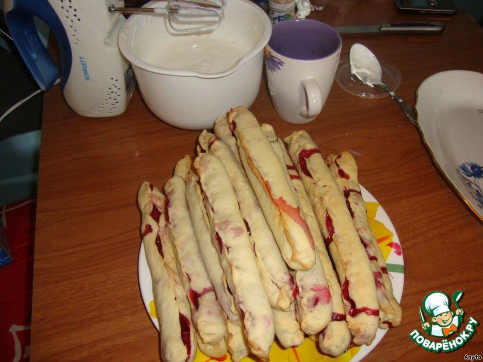 Торт Вишневый сугроб