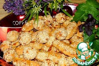 Рецепт: Овсяное печенье с рикоттой и сыром к пиву