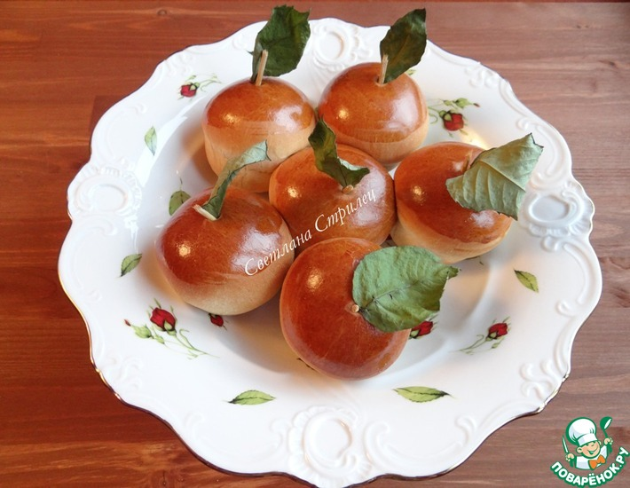 Рецепт: Пирожки Наливные яблочки