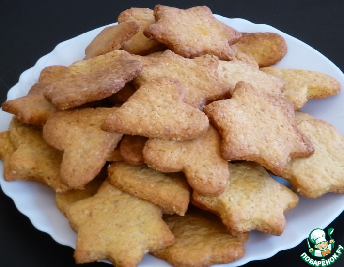 Рецепт: Печенье песочное арахисовое
