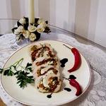 Куриные грудки с песто, шпинатом и рикоттой по-генуэзски