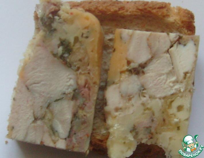 Рецепт: Ветчина куриная с сыром