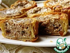 Рецепт Слоеные маффины с творожно-ореховой начинкой