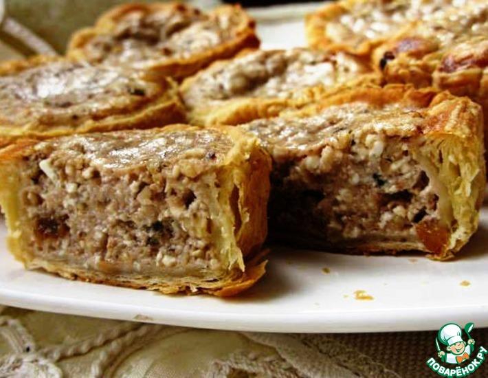 Слоеные маффины с творожно-ореховой начинкой – кулинарный рецепт
