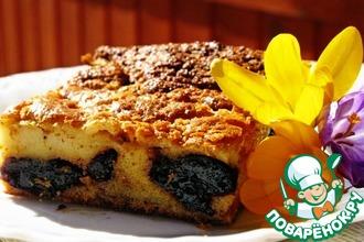 Рецепт: Пирог с черносливом