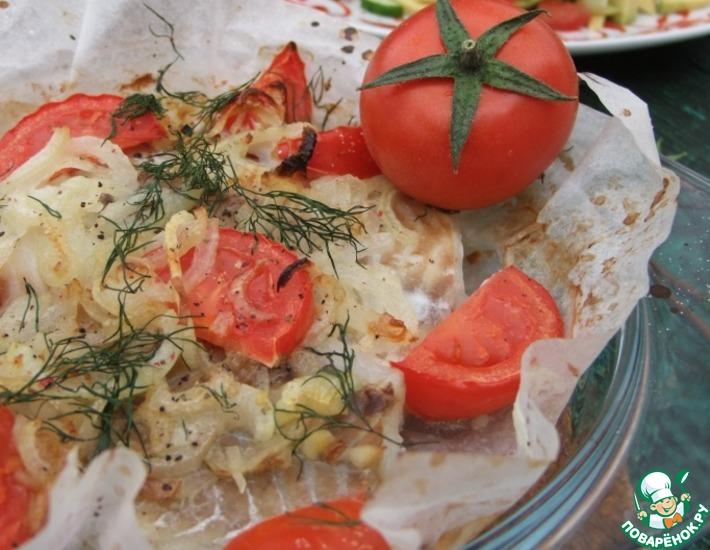 Рецепт: Запеченная рыба с сальсой из овощей