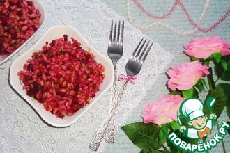 Рецепт: Тёплый перловый салат с овощами Розовый жемчуг