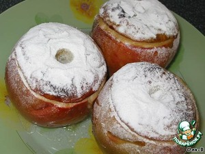 Apples ready sprinkle with powdered sugar, serve cold.