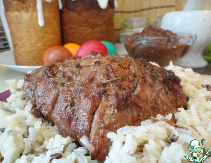 Рецепт: Свинина пасхальная с яблочным соусом