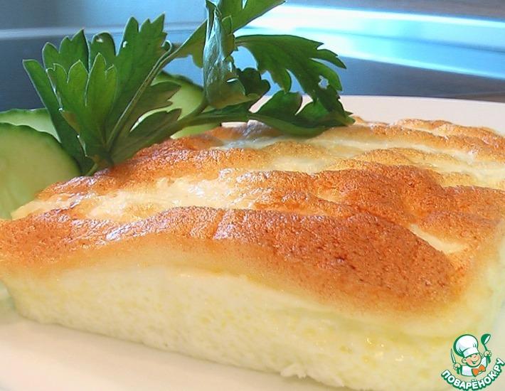 Рецепт: Запеченный белковый омлет со сметаной