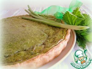 Рецепт Киш с крапивой и луком