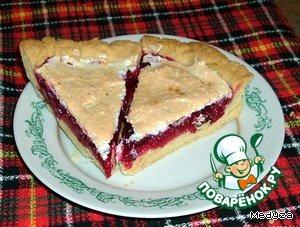 Кусочек пирога в разрезе)